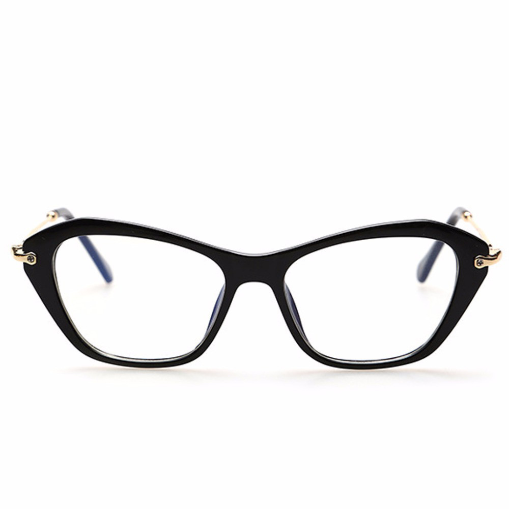 Имиджевые очки кошка  женские фигурные Чёрный