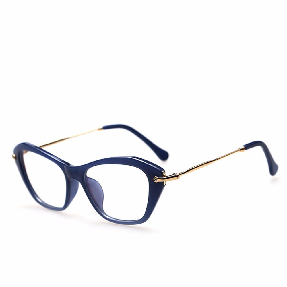 Имиджевые очки кошка  женские фигурные Синий