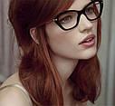 Имиджевые очки кошка  женские фигурные Синий, фото 3