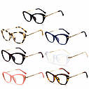 Имиджевые очки кошка  женские фигурные Синий, фото 4
