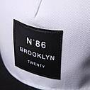 Кепка снепбек Brooklyn 86 з прямим козирком Біла, Унісекс, фото 5