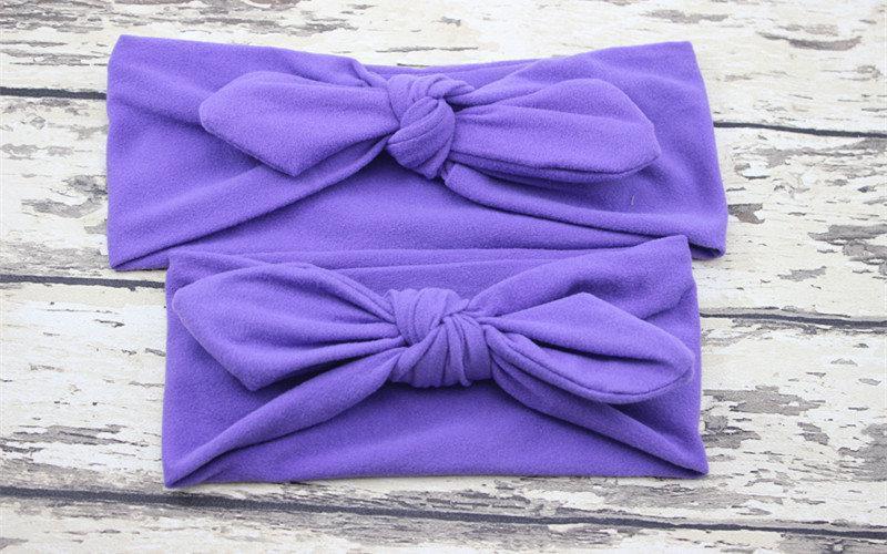 Повязка на голову для девочки солоха Микс мама+дочка (набор 2шт)  Фиолетовый