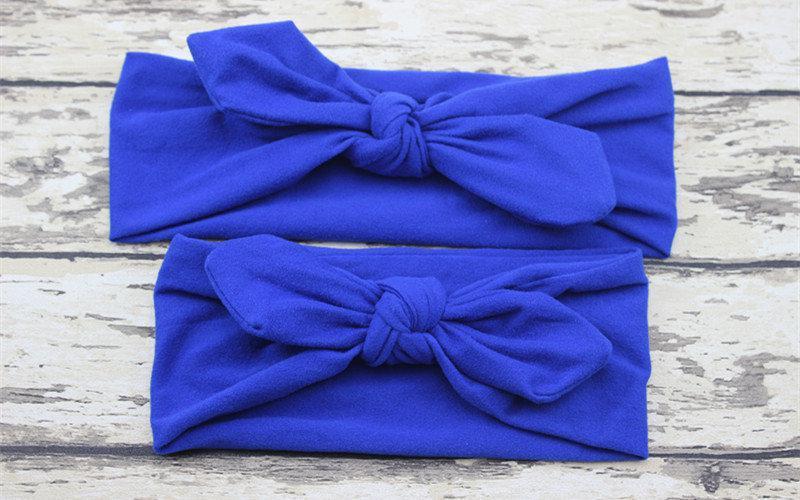 Повязка на голову для девочки солоха Микс мама+дочка (набор 2шт) Синий