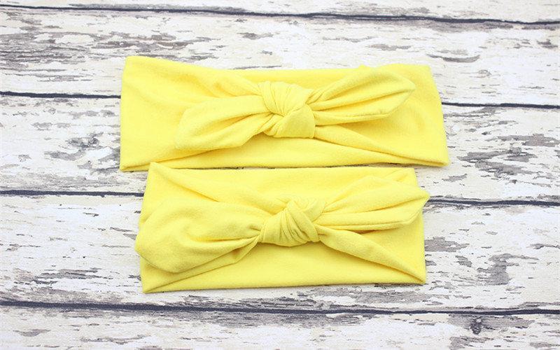 Повязка на голову для девочки солоха Микс мама+дочка (набор 2шт) Желтый