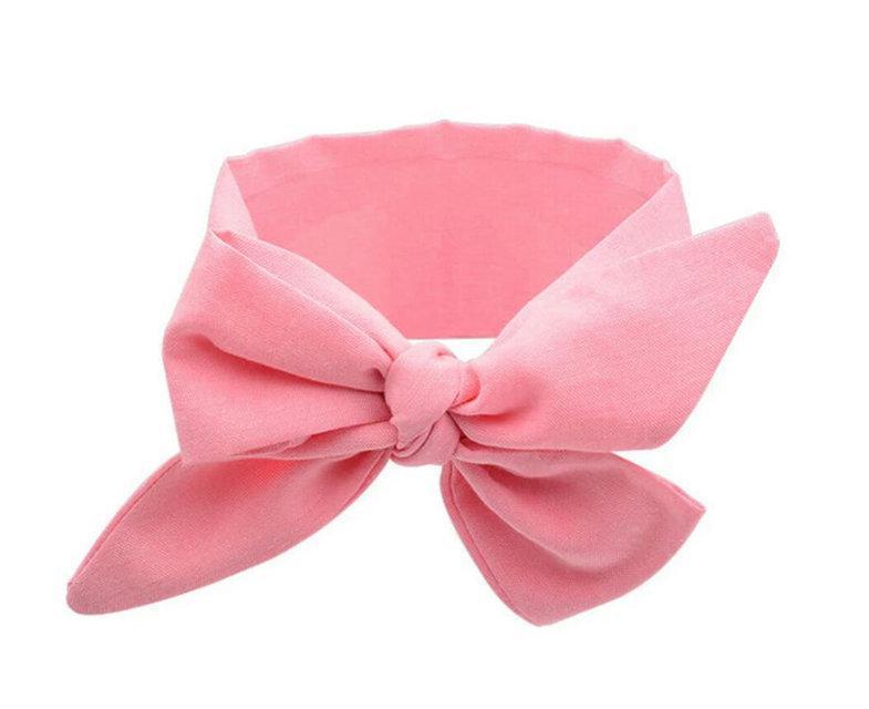 Повязка на голову для девочки солоха большой бант Розовый