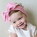 Повязка на голову для девочки солоха большой бант Персик, фото 4