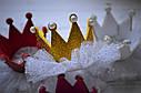 Корона на голову  детская на заколке 4 вида Малиновый, фото 2