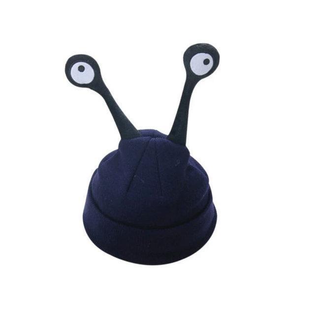 Детские шапочки улитка с глазами Синий