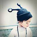 Детские шапочки улитка с глазами Серый, фото 4