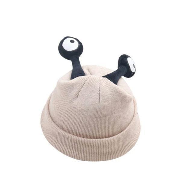 Детские шапочки улитка с глазами Бежевый