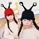 Детские шапочки улитка с глазами Красный, фото 9