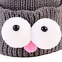 Детские шапочки гномик  с глазами Розовый, фото 5
