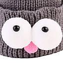 Детские шапочки гномик  с глазами Серый, фото 7