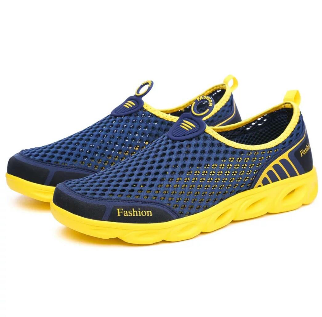 Мужские летние кроссовки в сетку Синий 45