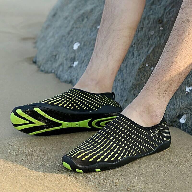 Летние пляжные кроссовки (аквашузы) Черный с жёлтым 45