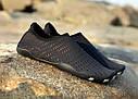 Летние пляжные кроссовки (аквашузы) Черный с жёлтым 45, фото 2