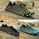 Летние пляжные кроссовки (аквашузы) Черный с жёлтым 45, фото 3