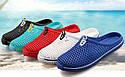 Шлёпки пляжные 5 цветов в сетку Синий 36, фото 3