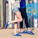 Шлёпки пляжные 5 цветов в сетку Синий 37, фото 4