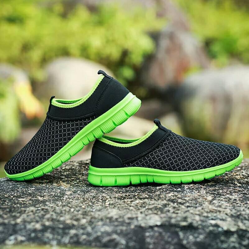 Весенне-летние кроссовки в 3 цветах Зеленый 44