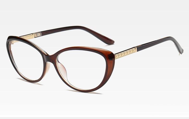 Имиджевые очки кошачий глаз Коричневый
