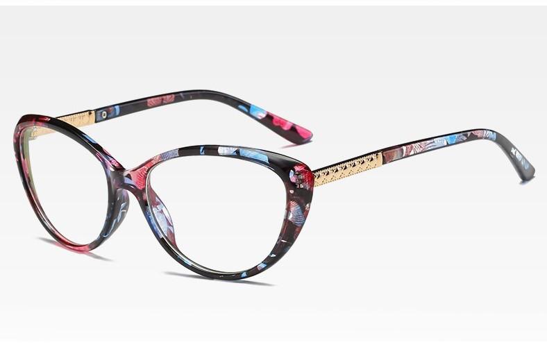 Имиджевые очки кошачий глаз Цветочный принт