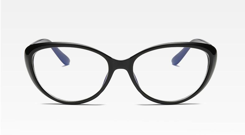 Имиджевые очки кошачий глаз Чёрный с золотом