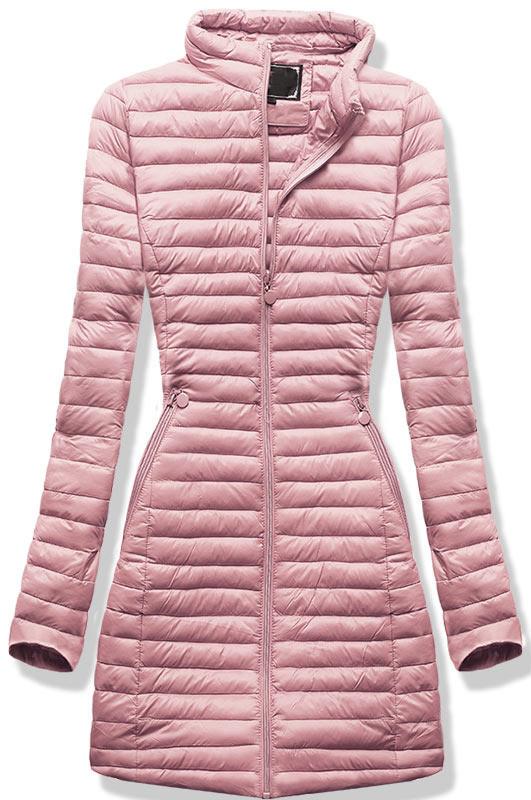 Удлиненная осенне-весенняя демисезонная куртка Пудра