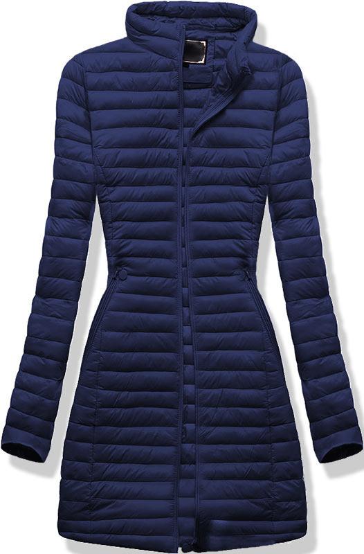 Удлиненная осенне-весенняя демисезонная куртка 46-52р Синий