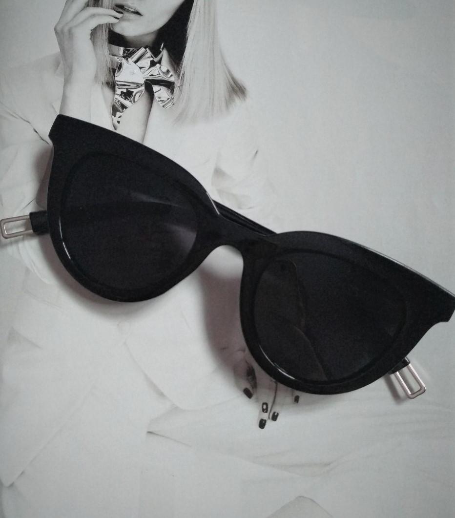 Очки солнцезащитные кошачий глаз Чёрный