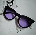 Очки солнцезащитные кошачий глаз Чёрный, фото 3