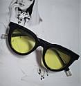 Очки солнцезащитные кошачий глаз Чёрный, фото 6