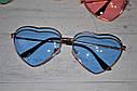 Очки солнцезащитные в форме сердца однотонные Уценка, фото 2