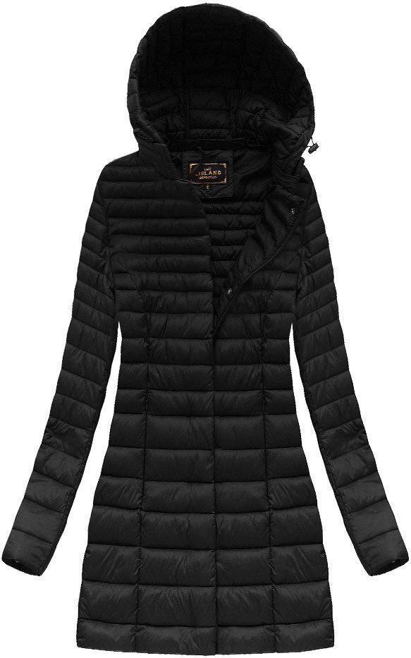 Длинная осенне-весенняя  куртка с капюшоном женская Чёрный