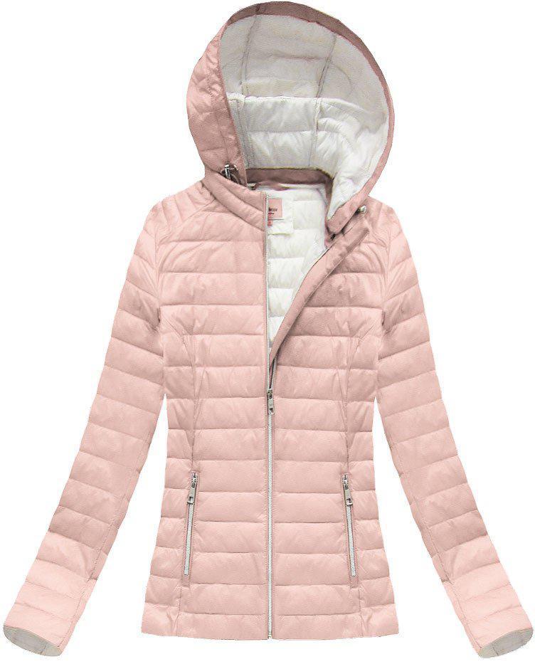 Женская осенне-весенняя  куртка с капюшоном р.36-52 Розовый