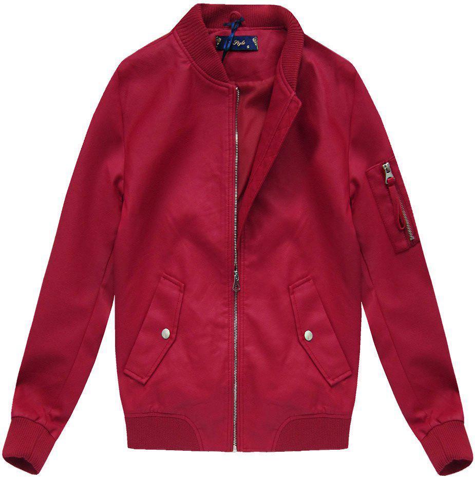 Женская осенне-весенняя  куртка бомбер Красный
