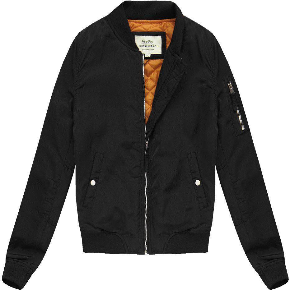 Женская куртка бомбер Чёрный