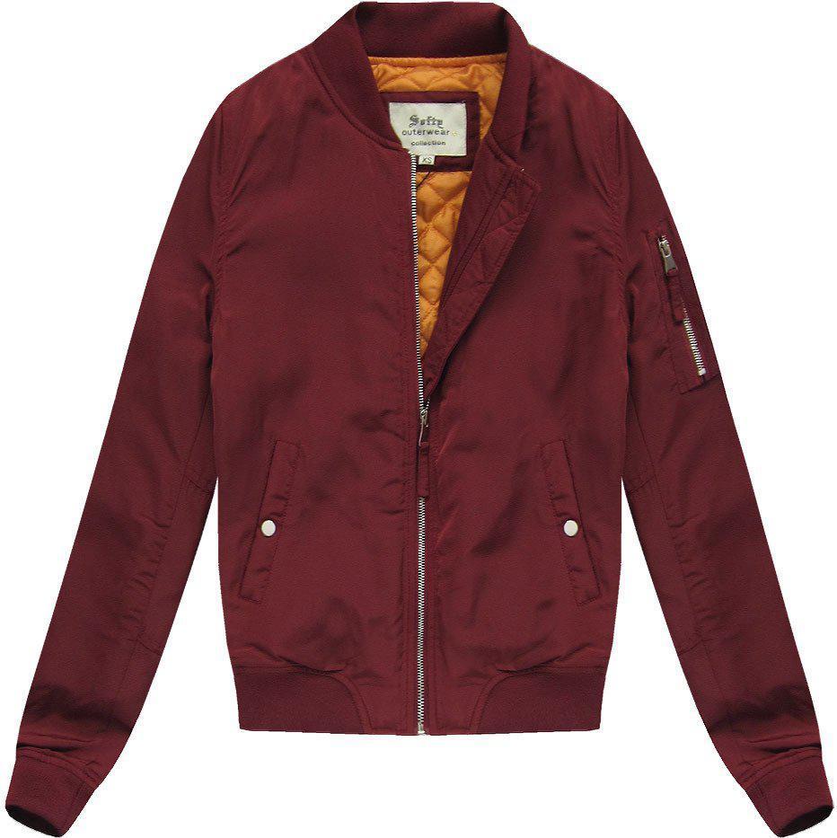 Женская куртка бомбер Бургундия