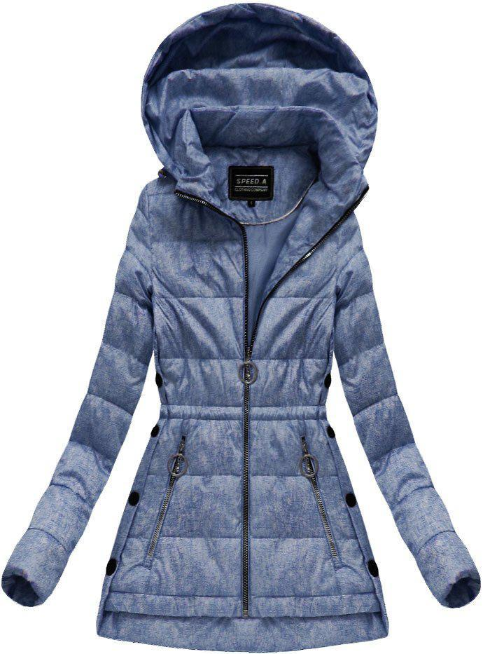 Демисезонная стёганая осенне-весенняя куртка р36-52 Тёмно-синий