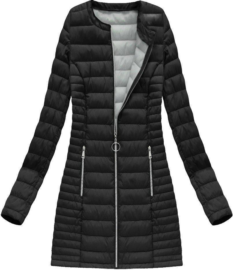 Куртка демисезонная длинная стёганая Чёрный