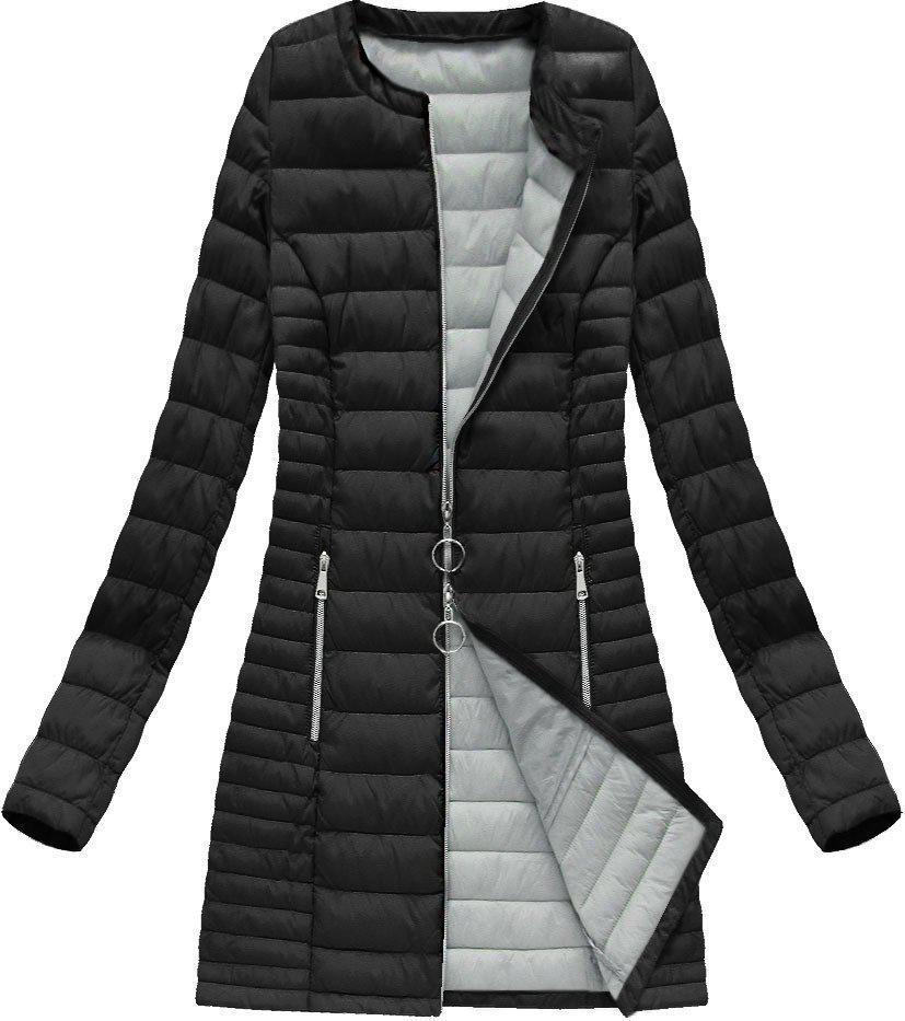 Куртка демисезонная длинная стёганая большой размер  р46-54 Чёрный