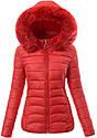 Женская зимняя стёганая куртка  с капюшоном Розовый, фото 3