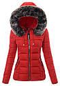 Женская зимняя стёганая куртка  с капюшоном №4 Синий, фото 3
