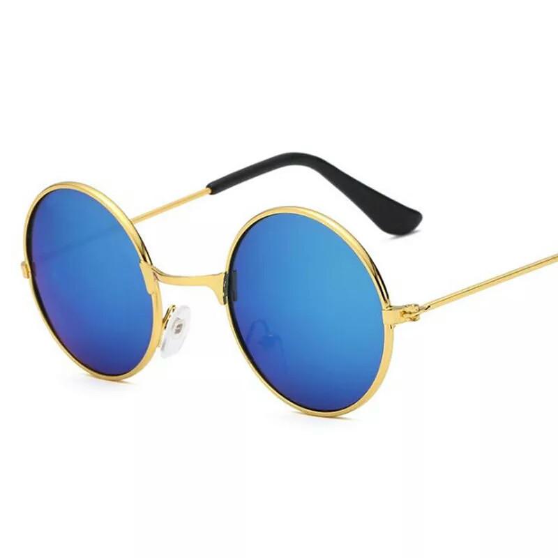 Солнцезащитные детские круглые  очки  тишейды   Синий+зеленый