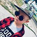 Солнцезащитные детские круглые  очки  тишейды   Синий+зеленый, фото 6