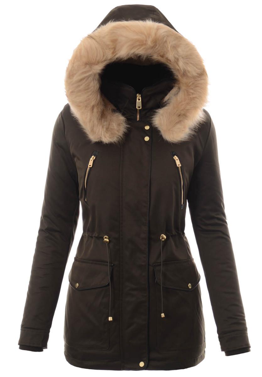 Женская парковая куртка  с капюшоном №3 Зёленый