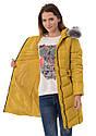Женское зимнее стёганое пальто  с капюшоном №4 Жёлтый, фото 9