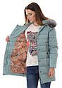 Женское зимнее стёганое пальто  с капюшоном №7 Розовый, фото 7