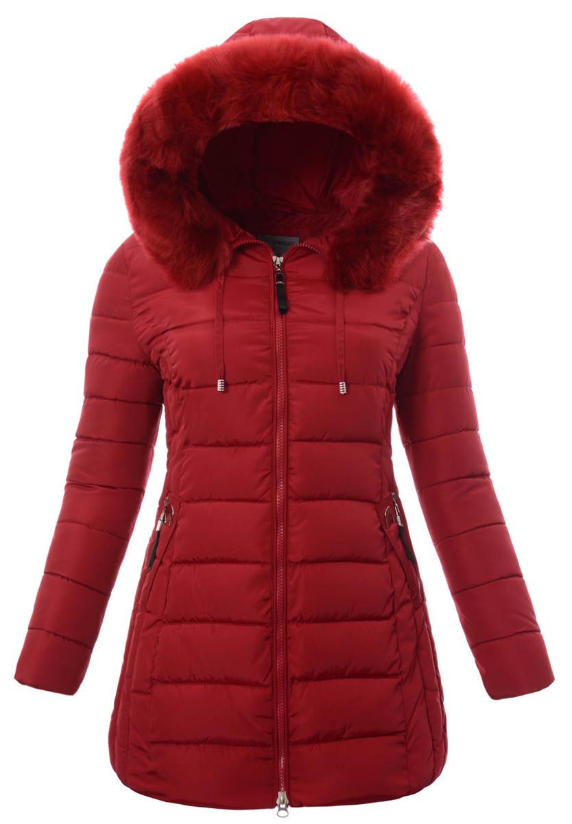 Женское зимнее  пальто  с капюшоном большой размер 3XL-7XL №3 Красный