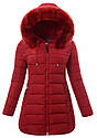 Женское зимнее  пальто  с капюшоном большой размер 3XL-7XL №3 Чёрный, фото 2